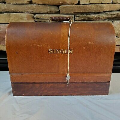 Vintage 1932 Singer Model 99k Sewing Machine+Brentwood Case+Light+Key EUC 3/4 SZ