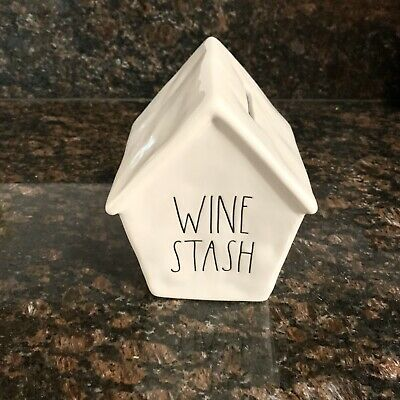 New Rae Dunn Bank WINE STASH Birdhouse Savings Money Ceramic LL