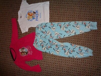 DISNEY-GIRLS nightwear PAJAMAS AGE 7-8-9 MIXED ITEMS CLOTHES MULTI TROUSERS TOP