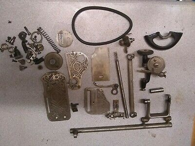 Antique Old Hexagon Sewing Machine - SPARE PARTS from m/c X1187