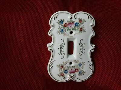 Switch Plate Cover Vintage  Porcelain Arnart Creation # 7310