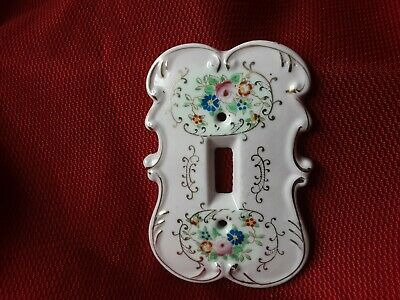 Switch Plate Cover Vintage  Porcelain Arnart Creation # 6883 p