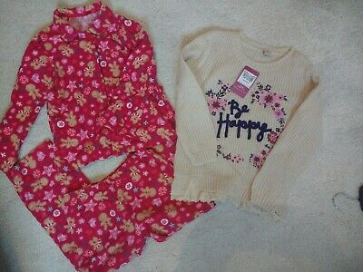 Girls Christmas Pyjamas and New Jumper, ages 6-7!!