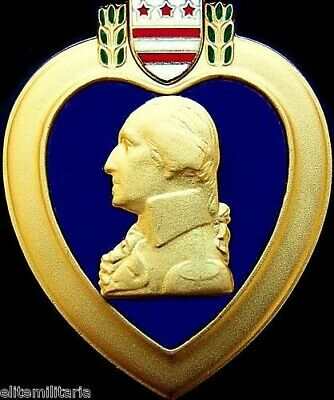Original United States Purple Heart Medal Order For Wounds Received In Combat 01