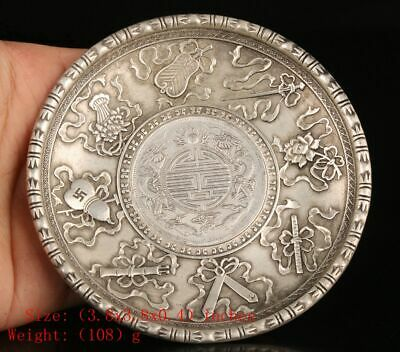 Unique Chinese Copper Plating-Silver Plate Embossed Weapons Old Artwork Christma