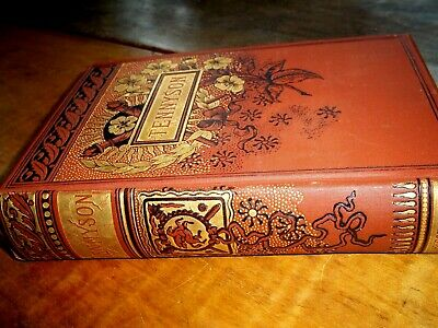 """Antique """"The Complete Works of Alfred Tennyson"""" Undated Hurst & Co.New York-GILT"""