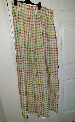Mothercare Kids room Nursery multicolored check Curtains