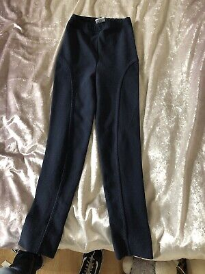 Kids Children Girls Winter Navy Blue Next Trousers 7-8 Years
