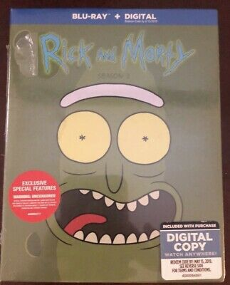 RICK AND MORTY TV SERIES COMPLETE THIRD SEASON 3 New Sealed DVD