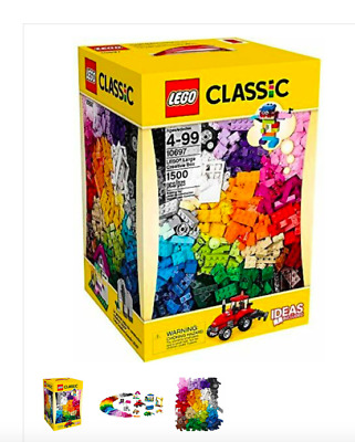 LEGO Classic 10697 Large Creative Box 1500 Pieces Mixed Colors Sizes Bricks NEW