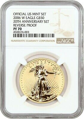 2006-W Gold Eagle $50 NGC PR 70 (Reverse PR ) Proof American Gold Eagle