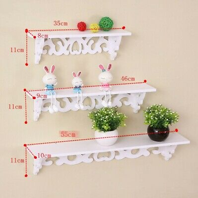 Gloss Carved Floating Shelves Wall Hanging Shelf Unit Bathroom Display Storage