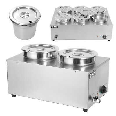 Commercial Catering Electric  2/6 Pot Restaurant Buffet Soup Food Warmer Heat