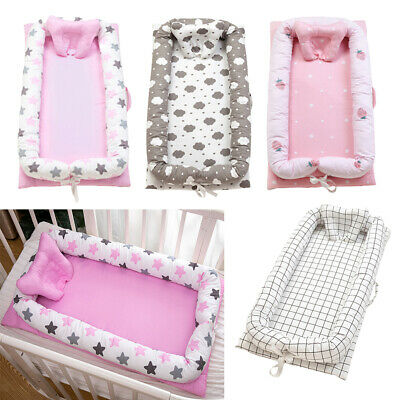 Baby Bassinet Bed 90x50cm 0-2 Years Olds Portable Infant Lounger Crib Nest