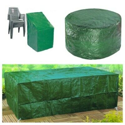 Garden Patio Large Outdoor Table Furniture Rattan Bench Cube Seat Cover Rain Set