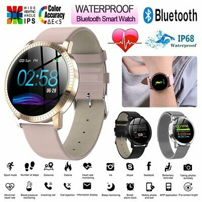Women Lady Fashion Bluetooth Smart Watch Waterproof Heart Rate for iOS Android