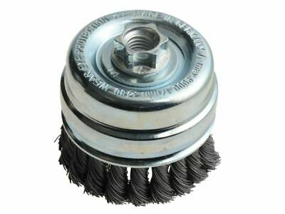 Knot Cup Brush 80mm x M14 x 0.50 Steel Wire* LES484217