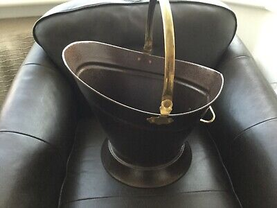 BRAND NEW with BOX - BLACK with BRASS HANDLE WATERLOO COAL SCUTTLE / BUCKET