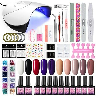 Coscelia Soak Off Gel Polish Kit UV LED Nail Lamp 36W Starter Manicure Kit Xmas