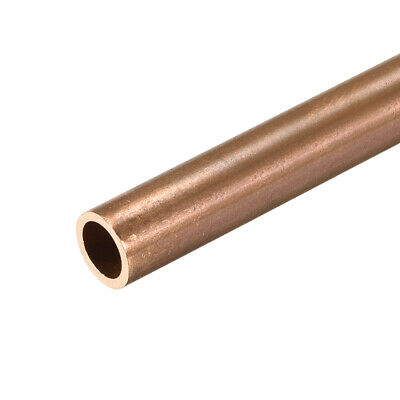 Copper Round Tube 8mm OD 1mm Wall Thickness 300mm Long Pipe Tubing