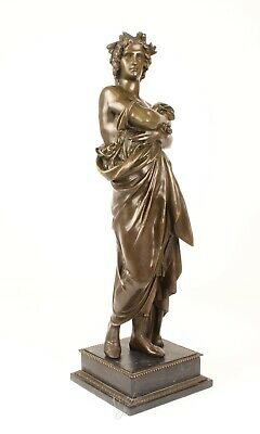Augustus Roman Emperor Large Pure Hotcast Bronze Statue Sculpture See My Items