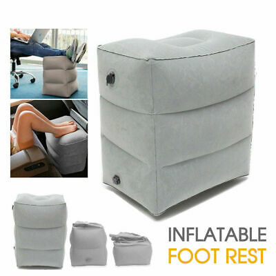 Travel Inflatable Foot Rest Air Pillow Cushion Office Home Leg Footrest Relax gk