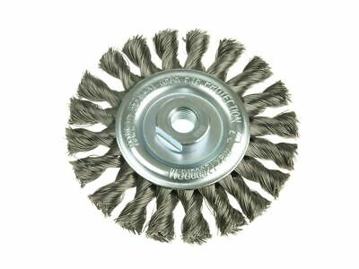 Knot Wheel Brush 115 x 14mm M14 Bore Steel Wire 0.35 LES472117