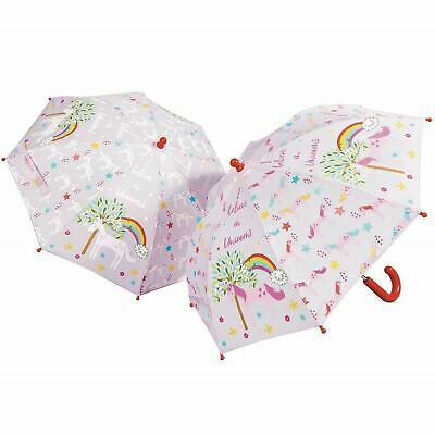 Floss /& Rock Construction Bright Colour Changing Clear Boys Kids Umbrella Brolly