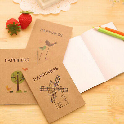Blank Page Painting Paper Book Journal Diary Notepad Memo Pad Notebook CB
