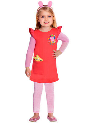New w/Defects-Child 2-3 Years Red Peppa Pig GirlsFancy Dress Costume Teddy