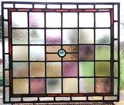 Genuine Antique Stained Glass Panel - Ref Sg411