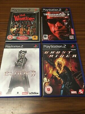4x Ps2 Games Bundle From Movies Warriors Terminator Blade Ghost Rider Sh3-028