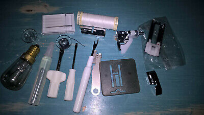 Collection Of Modern Singer Sewing Machine Tools, Bulb, Parts
