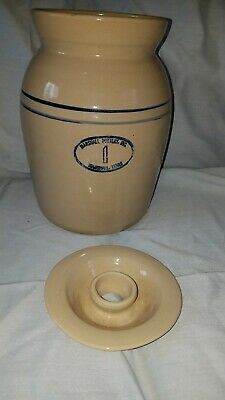 Vintage Marshall Pottery Number One Butter Churn With Lid Rare Texas