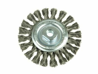 Knot Wheel Brush 115 x 14mm M14 Bore Steel Wire 0.50 LES472217