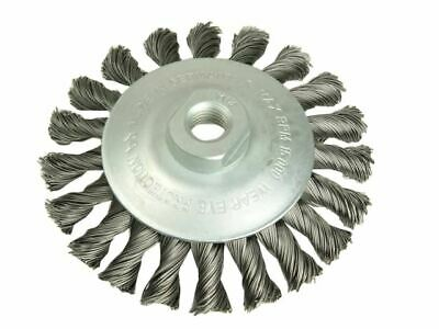 Conical Knot Brush 100mm M14 Bore 0.50 Steel Wire LES471257