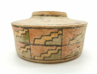 Ancient Indus Valley Terracotta Vessel With Geometric Motifs  - R420