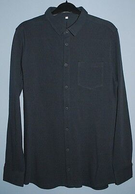 New & Tagged M&S Kids Long Sleeve Cotton Shirt Grey Age 13-14 Years 164cm