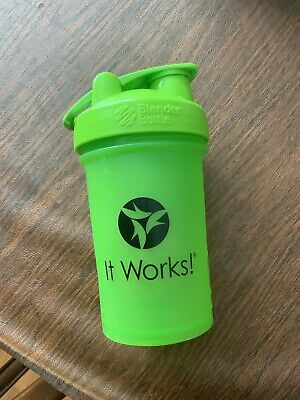 It Works Lime Green Shaker Blender Bottle