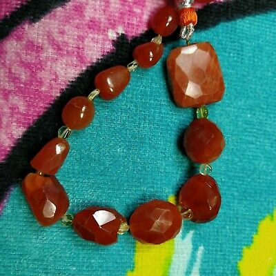 """Natural Loose Carnelian Gemstone Faceted Smooth Nugget Beads 8"""" Approx 170 Carat"""