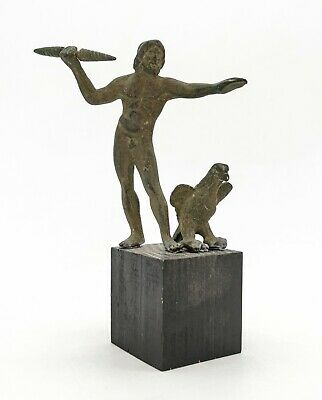 Ancient Roman Bronze Statue Of God Jupiter Holding Thunder Bolt And Eagle R 433