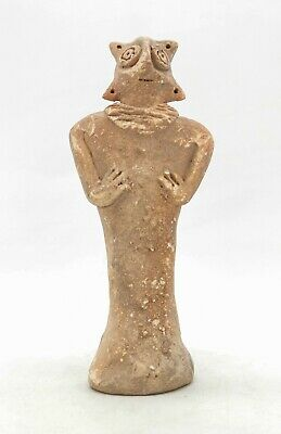 Ancient Syro Hittite Terracotta Fertility Idol Breast Feeding  R439