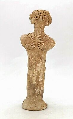 Ancient Syro Hittite Terracotta Fertility Idol Breast Feeding  R440