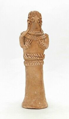 Ancient Syro Hittite Terracotta Fertility Idol Breast Feeding  R443