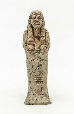 Ancient Egyptian Ca.1000 Bc Faience Ushabti  Amulet  R455