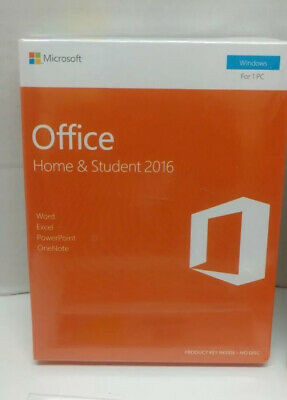 (Sealed) Microsoft Office Home and Student 2016 for Windows PC KEY