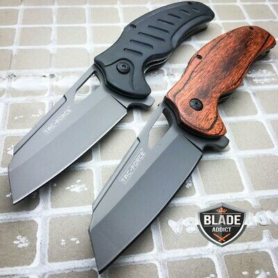 2 PC TAC FORCE TITANIUM Tactical Spring Assisted Open FOLDING Pocket Knife -a
