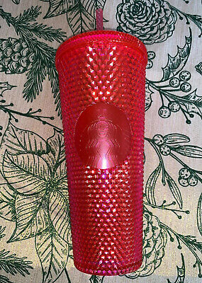 NEW STARBUCKS 2019 Neon Pink Studded Cold Cup  Christmas HOLIDAY (ready To Ship)