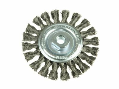 Knot Wheel Brush 115 x 14mm 22.2mm Bore Stainless Steel Wire LES472811