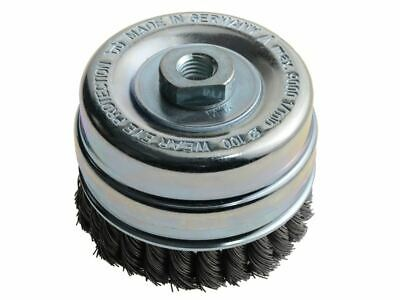 Knot Cup Brush 100mm M14 x 0.50 Steel Wire* LES486217